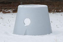 pasture waterer in snow is ice free